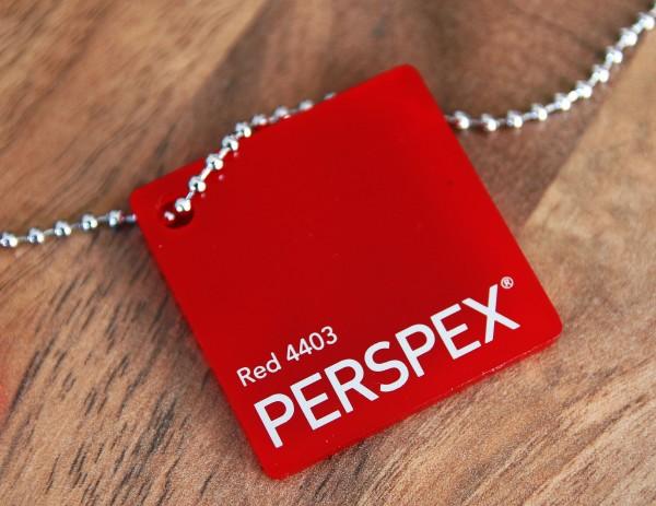 Acrylglas Perspex GS rot 4403 1010 x 3050 x 3 mm