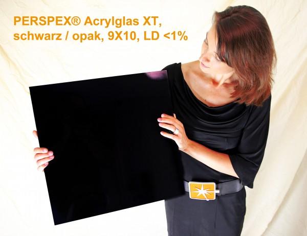 PERSPEX® XT Acrylglas 9X10 schwarz opak