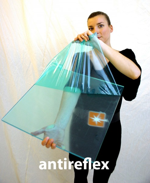 """Acrylglas PERSPEX® XT, farblos / einseitig """"antireflex"""", 1020 x 3050 x 3 mm, AR0X00"""