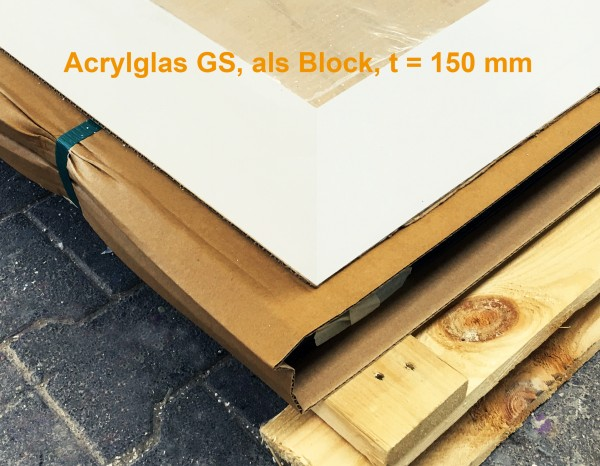 Acrylglas Block GS 1200 x 2000 x 150 mm, transparent
