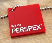 Acrylglas Perspex GS rot 433 1000 x 2030 x 3 mm