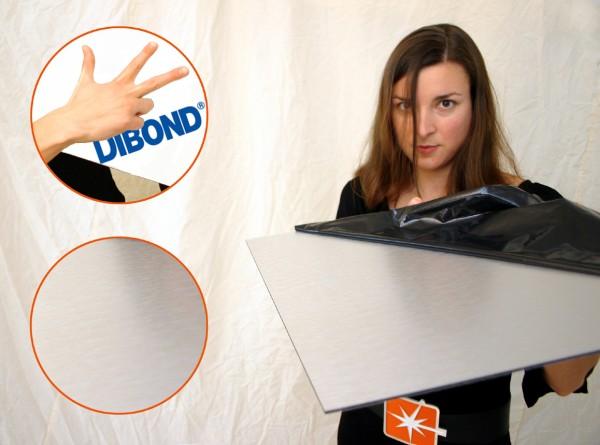 Dibond Butlerfinish, 1500 x 3050 x 3 mm, Aluminiumverbundmaterial