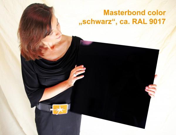 """Masterbond premium """"verkehrsschwarz"""", ca. RAL 9017,1500 x 3050 x 3 mm, Aluminiumve"""