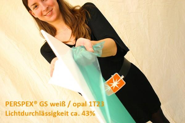 Acrylglas PERSPEX GS weiß opal 1T23 43%