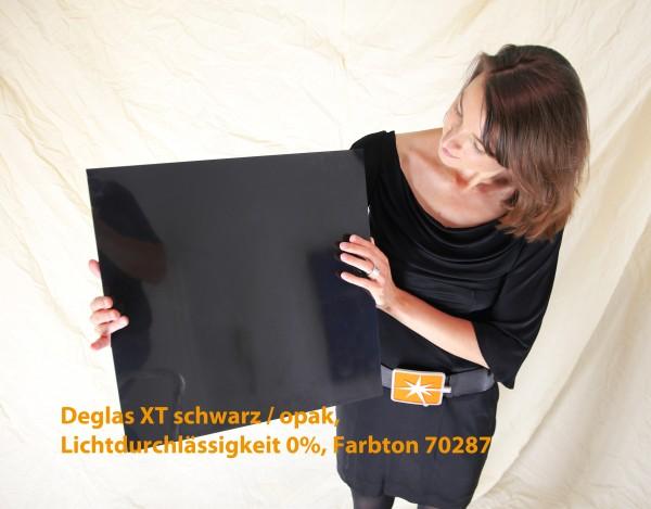Acrylglas Deglas XT, 1000 x 2050 x 3mm, schwarz / opak, LD 0% 70287