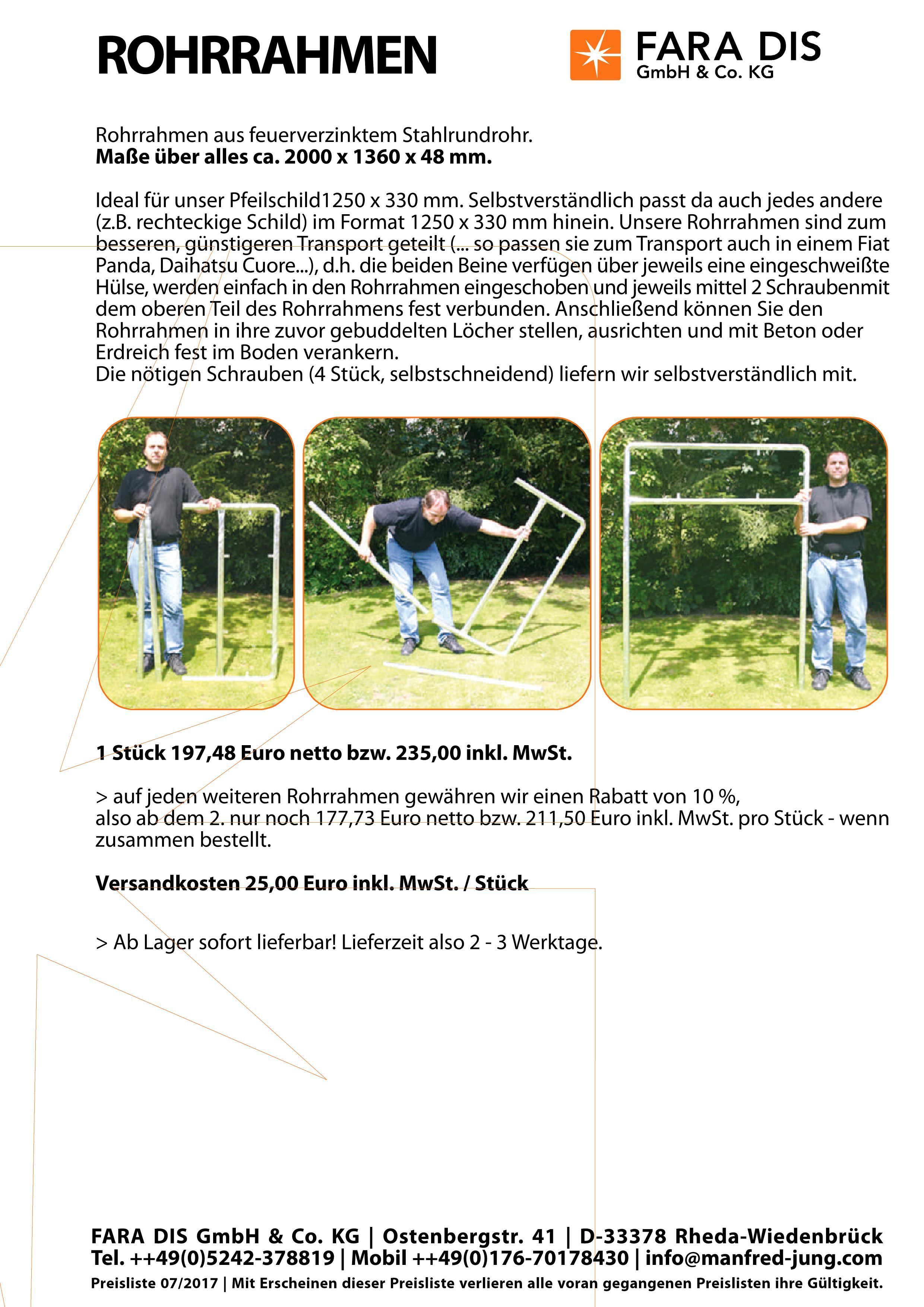 Rohrrahmen geteilt   FARA DIS GmbH & Co. KG