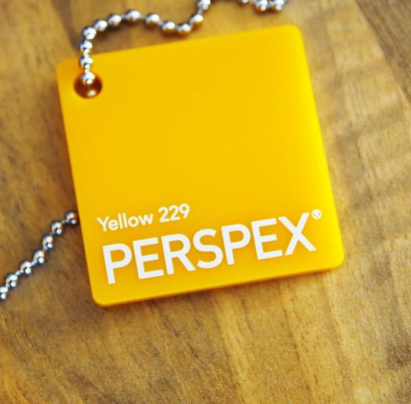 Acrylglas Perspex GS gelb 229 1000 x 2030 x 3 mm