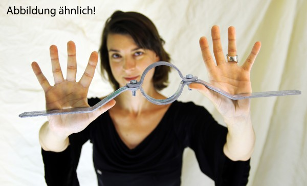 Rohrschelle / Schilderhalter Rohrdurchmesser 76 mm, Lochabstand 350 mm
