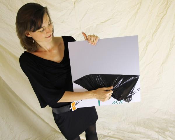 Masterbond silber metallic, 1500 x 3050 x 3 mm, Aluminiumverbundmaterial